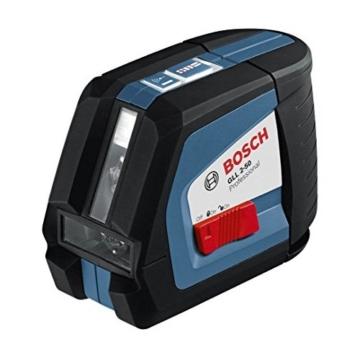 Bosch 0601063104 GLL 2-50 Professional Kreuzlinien-Laser in Schutztasche mit Ausrichtscheibe -