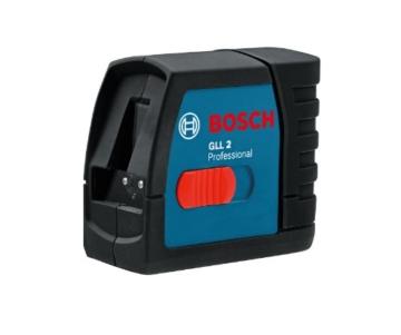 Bosch 061599404T GLL 2 Professional Linienlaser in Schutztasche mit Multifunktionshalterung und Baustativ BS 150 -