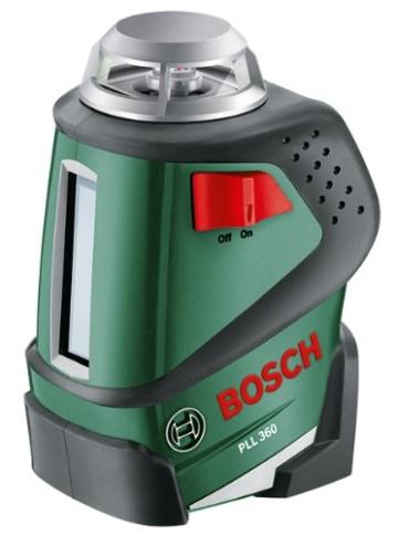 Bosch DIY Linienlaser PLL 360, 4x Batterien AA, Universalhalterung, Schutztasche (Arbeitsbereich 20 m, Messgenauigkeit ± 0,4 mm/m) -