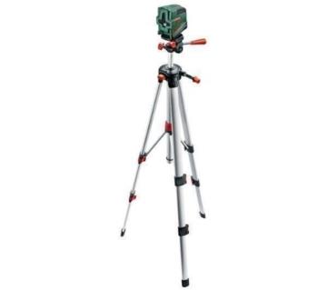 BOSCH Kreuzlinien-Laser mit Lotfunktion PCL20SET + Stativ + Wandhalterung -