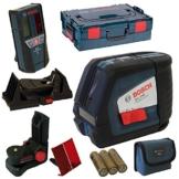 Bosch Linienlaser und Kreuzlinienlaser, GLL 2-50 P+BM1+Deckenklemme+LR2+L-B -