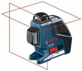 Bosch Linienlaser und Kreuzlinienlaser, GLL 2-80 P+BM1+Deckenklemme+LR2+L-B -
