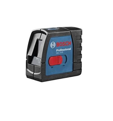 Bosch Professional GLL 2-15, 15 m Arbeitsbereich, Koffer, Laserzieltafel, Wandhalterung BM 3, 3 x 1,5-V-LR6-Batterien (AA) -