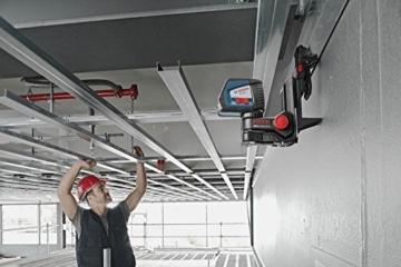 Bosch Professional GLL 2-50 Linien-Laser bis zu 50m Arbeitsbereich mit Schutztasche, Laserzieltafel, L-BOXX 136, Ausrichtscheibe, Universalhalterung BM1 -
