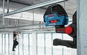 Bosch Professional GLL 3-50, 50 m Arbeitsbereich mit Empfänger, ± 0,3 mm/m Nivelliergenauigkeit, L-BOXX-Einlage, L-BOXX, Laserzieltafel, Universalhalterung -