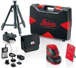 Leica Lino L2P5–Pack Laser-Linien und Punkte Lino L2P5(60m mit Empfänger) + Zubehör -