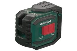Metabo Lasermessgerät Kreuzlinienlaser KLL 2-20 / 20 Meter Laserstrahl für exakte Ausrichtungen / variable Befestigungsmöglichkeiten -