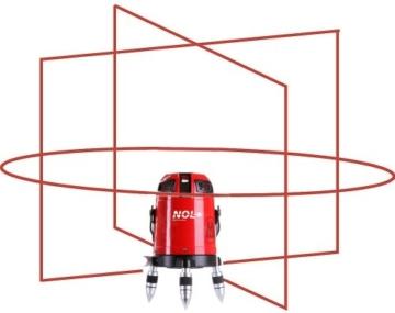 Nestle 16100001 Octoliner, Linienlaser mit 360 Grad Horizontalline, 4 Vertikallinien, Lotpunkt unten, IP54, ± 1.5 mm auf 10 m, Reichweite 30 m -