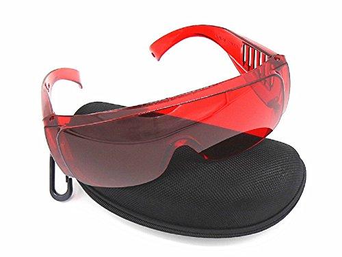 ONEGenug Lasersichtbrille Schutzbrille Überbrille Laser Lichtschutzbrille Schutz Wellenlänge 200nm-540nm -