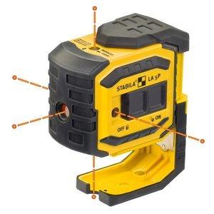 Stabila 03160 LA-5P Laser Bob 5 Point Laser by Stabila -
