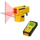 Stabila Laser-Set Kreuzlinien-Laser LAX 50 Entfernungsmesser LD 300 -