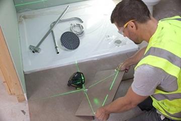 Stanley FatMax Linienlaser X3G, selbstnivellierender mit gruener Diode und grüne Lasersichtbrille, Ladegeraet und Transportkoffer, 1 Stück, FMHT1-77356 -