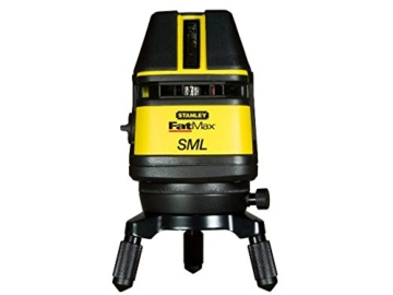 Stanley FatMax Multilinienlaser SML selbstnivellierend, Kreuzlinienlaser/Nivellierlaser, Empfänger und Koffer, 1-77-322 -