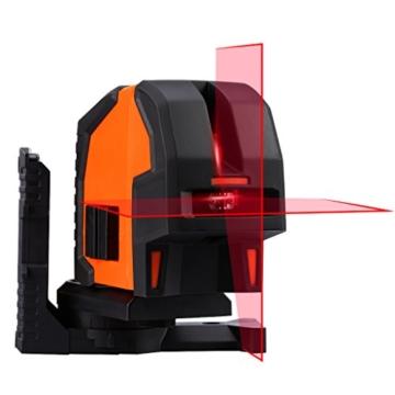 SUAOKI Kreuzlinienlaser, Baulaser Arbeitsbereich 20m, Kreuz-Linienlaser Neigungsfunktion, Mini CrossLine Laser IP 54 Staub- und Spritzwasserschutz, mit Schutztasche -