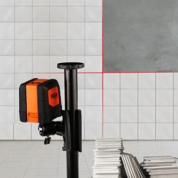Tacklife SC L01 Klassischer Kreuzlinien-Laser mit Messbereich 15M und Neigungsfunktion, 110 Grad selbstnivellierenden Kreuzlinien und Vertikale Linie, Linienlaser IP 54 Staub- und Spritzwasserschutz( inkl. Schutztasche) -