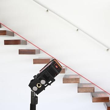 Tacklife SC L02 Klassischer Kreuzlinien-Laser mit Messbereich 20M und Neigungsfunktion, 130 Grad selbstnivellierenden Kreuzlinien und Vertikale Linie, Linienlaser IP 54 Staub- und Spritzwasserschutz( inkl. Schutztasche, Magnetische schwenkbare Haltung) -