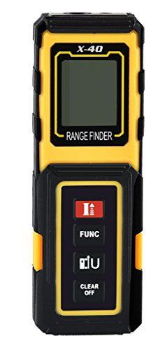amyamy Elektronische Laser-Entfernungsmesser mit 131ft (40m) Range und Mini Handheld Digital Laser Maßband/Maßband Entfernungsmesser -