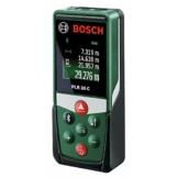 Bosch DIY Digitaler Laser-Entfernungsmesser PLR 30 C, mit App-Funktion, 3 x AAA Batterien, Schutztasche, Karton (30 Meter Messweite) -