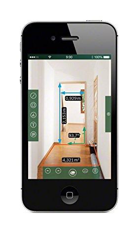Bosch DIY Digitaler Laser-Entfernungsmesser PLR 50 C, mit App-Funktion, 3 x AAA Batterien, Handschlaufe, Schutztasche, Karton (50 Meter Messweite) -
