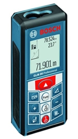 Bosch Professional Laser-Entfernungsmesser GLM 80, 0,05 - 80 m Messbereich, ± 1,5 mm Messgenauigkeit, Schutztasche, Micro-USB-Ladegerät, Herstellerzertifikat -