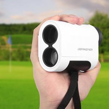 Entfernungsmesser Golf Laser Rangefinder für Jagd Weiss 600 Meter -