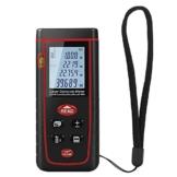 Laser-Entfernungsmesser Entfernungsmessgerät Entfernungsmesser Distanzmesser Distanzmessgerät mit LCD Display und Wasserwaage Messbereich bis zu 40m -