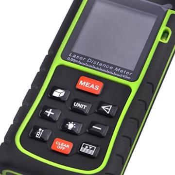 Signstek RZ-E40 40M Mini Digital Laser - Distanzmesser Distanzmessgerät Entfernungsmessgerät Laser-Entfernungsmesser mit Wasserwaage -