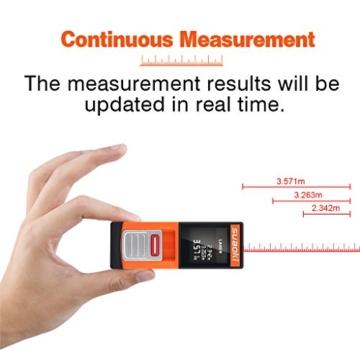 SUAOKI D5 20m Laser-Entfernungsmesser Distanzmessgerät, Messbereich 0,2~20m/ ±2mm mit LCD Hintergrundbeleuchtung, inkl.Batterie und Schutztasche -
