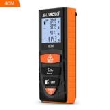 SUAOKI D8 Laser-Entfernungsmesser 0.2~40M ,+/- 2mm Messgenauigkeit , Laser Distanzmessgerät mit LCD Display Entfernungsmessergerät -
