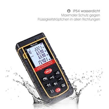 Tacklife Professional Laser Entfernungsmesser Distanzmessgerät 0,05~80m/±2mm Distanzmesser distanz messgerät mit LCD Hintergrundbeleuchtung, Ein Ideales Geschenk für Vatertag -