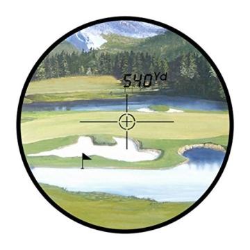 TONOR 600 Meter Golf Entfernungsmesser Laser Golf Rangefinder für Jagd Fischen Schwarz -
