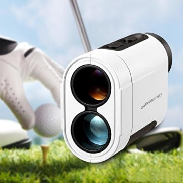 TONOR 900 Meter Golf Entfernungsmesser Laser Golf Rangefinder für Jagd Fischen Weiß -