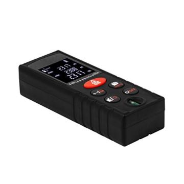 Uvistar Professional Laser Entfernungsmesser 100M Distanzmessgerät Abstandsmesser Distanzmesser, LCD Hintergrundbeleuchtung, Hohe Präzision, mit Batterie -